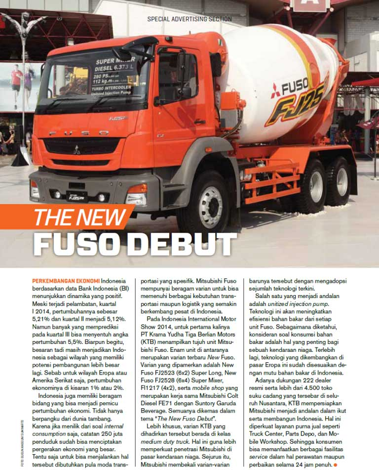 THE NEW FUSO DEBUT [FORTUNE INDONESIA]